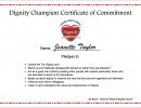 Dignity In Care Champion Certificate